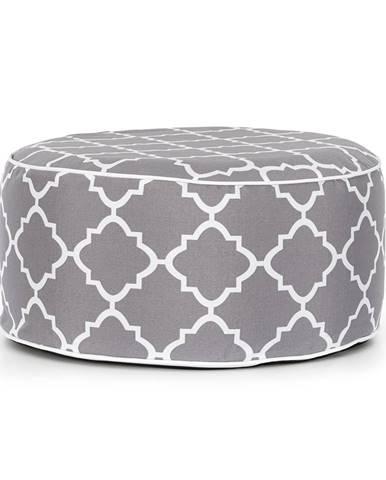Blumfeldt Cloudio, sedačka, nafukovací, 55 x 28 cm (Ø x V), PVC/polyester, šedá