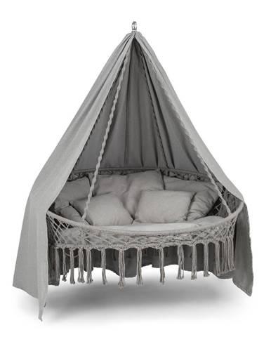 Blumfeldt Ischia, závěsné křeslo, polštář na sezení 115 cm (Ø), polyesterová bavlna, světle šedé