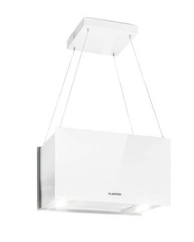 Klarstein Kronleuchter L, stropní ostrůvková digestoř, 60 cm, recirkulační výkon 590 m³/h, dotyková, LED, bílá