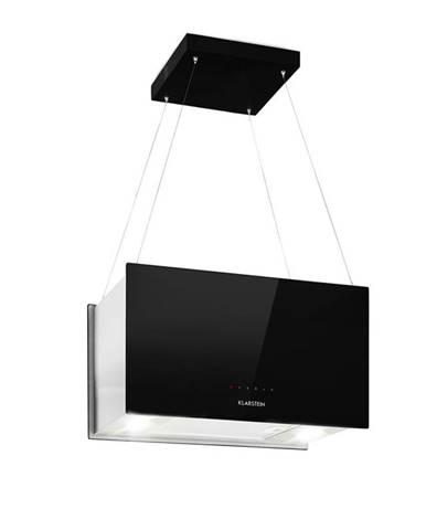 Klarstein Kronleuchter L, stropní ostrůvková digestoř, 60 cm, recirkulační výkon 590 m³/h, dotyková, LED, černá