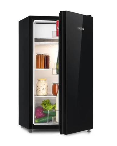 Klarstein Luminance Frost, chladnička, 91 l, A+, chladicí prostor na zeleninu, 2 skleněné police, černá