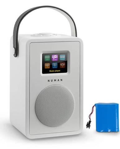 Numan Mini Two Design internetové rádio Wi-Fi DLNA bluetooth FM bílá včetně nabíjecí baterie