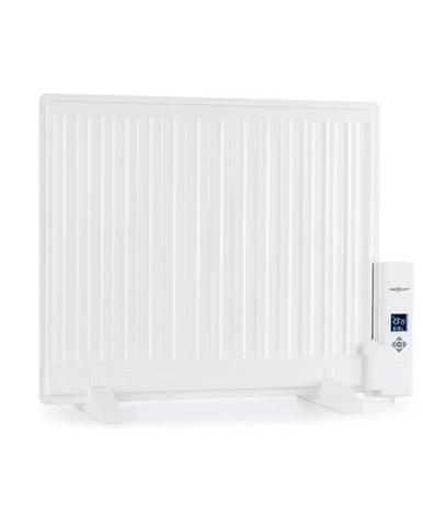 OneConcept Wallander, olejový radiátor, 600 W, termostat, olejové vyhřívání, plochý design, bílý