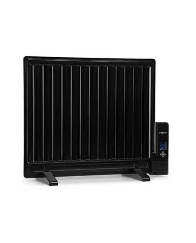 OneConcept Wallander, olejový radiátor, 600 W, termostat, olejové vyhřívání, plochý design, černý