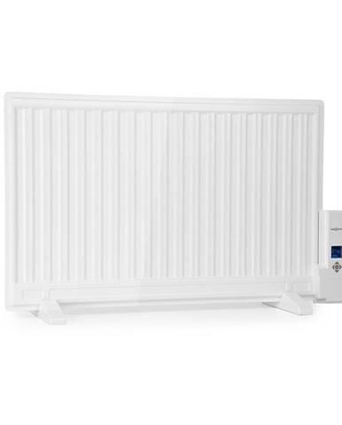 OneConcept Wallander, olejový radiátor, 800 W, termostat, olejové vyhřívání, plochý design, bílý