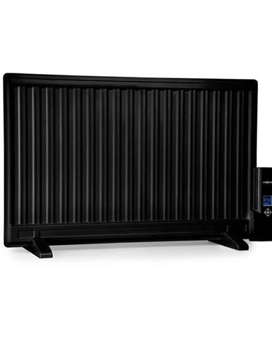 OneConcept Wallander, olejový radiátor, 800 W, termostat, olejové vyhřívání, plochý design, černý