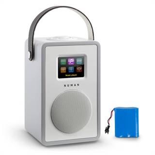 Numan Mini Two Design internetové rádio Wi-Fi DLNA bluetooth FM šedá včetně nabíjecí baterie