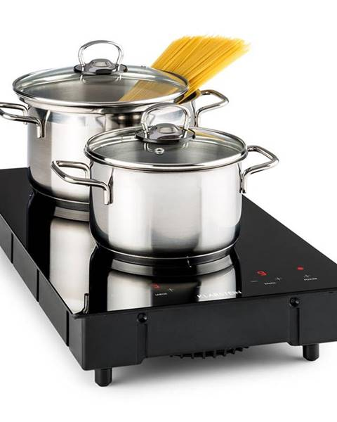 Klarstein Klarstein Varicook Domino, indukční vařič, dvojplotýnka, varná deska, sklokeramika, 3100 W