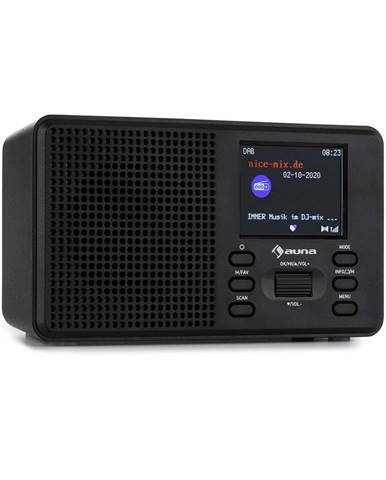 Auna Commuter, DAB+/FM rádio, AUX, 2.4'' TFT displej, černé