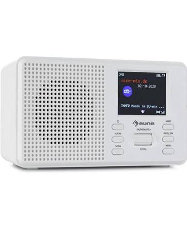Auna Commuter, DAB+/FM rádio, AUX, 2.4'' TFT displej, bílé