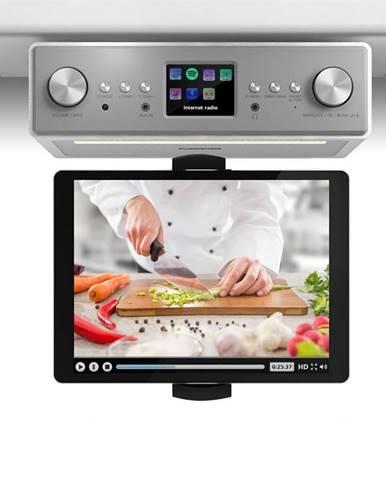 """Auna Connect Soundchef, kuchyňské rádio s držákem na tablet, set, DAB +, FM, 2x3 """", bílá"""