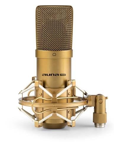 Auna Pro MIC-900G, USB kondenzátorový mikrofon, studiová kardioidní charakteristika, zlatá barva