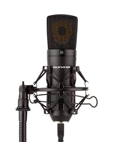 Auna Pro MIC-920B, USB kondenzátorový mikrofon, studiový, velkomembránový, černá barva