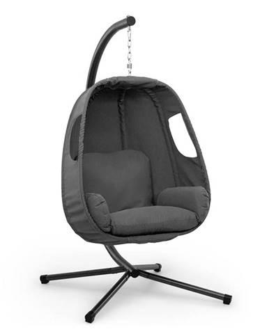 Blumfeldt Bella Donna, houpací křeslo závěsné, polštář na sezení, 180 g polyester, tmavošedé