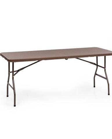 Blumfeldt Burgos Family, skládací stůl, polyratan, 178 x 73 cm plocha stolu, 6 osob, hnědý