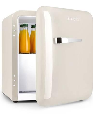 Klarstein Audrey, mini chladnička, EEC A+, mrazicí složka, LED, krémová
