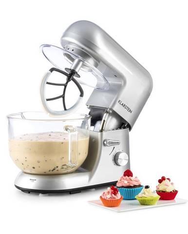Klarstein Bella Argentea 2G, kuchyňský robot, 1200 W, 2,5 / 5,2 l, skleněná miska, stříbrná barva