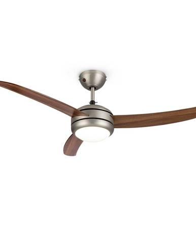 """Klarstein El Paso, stropní ventilátor, 52"""", závit E -27, 3 lopatky, vzhled tmavého dubového dřeva"""