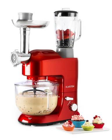 Klarstein Lucia Rossa 2G kuchyňský robot, mixér, mlýnek na maso, 1300W, bez BPA