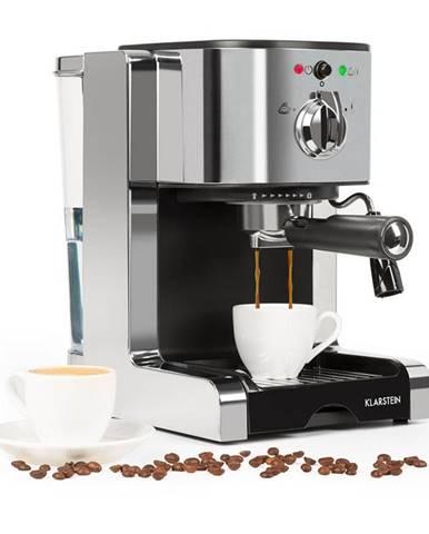 Klarstein Passionata 15, espresso kávovar, 15 barů, cappuccino, mléčná pěna, stříbrný