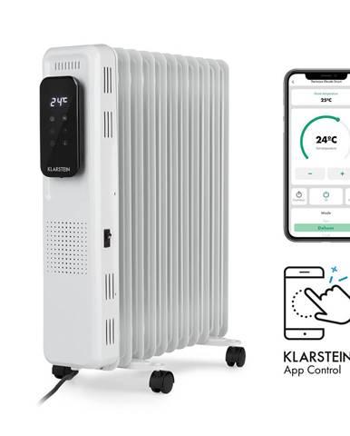 Klarstein Thermaxx Elevate Smart, olejový radiátor, 2720 W, 7–35 °C, 24hod. časovač, bílý