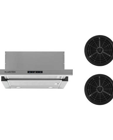 Klarstein Vinea, odsavač par, set náhradních filtrů s aktivním uhlím, 60 cm, 610 m³/h, stříbrná