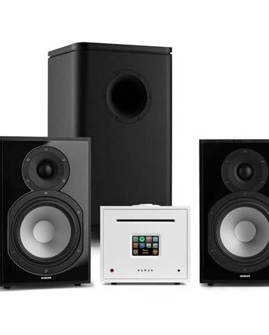 Numan Unison Reference 802 Edition, stereo systém, zesilovač, reproduktory, černá / bílá