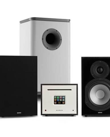 Numan Unison Reference 802 Edition, stereo systém, zesilovač, reproduktory, černo/šedá