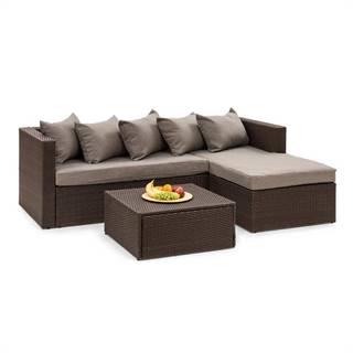 Blumfeldt Theia Lounge set zahradní sedací souprava, hnědá / hnědá