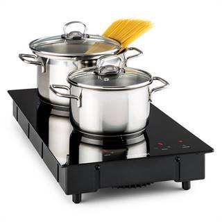 Klarstein Varicook Domino, indukční vařič, dvojplotýnka, varná deska, sklokeramika, 3100 W