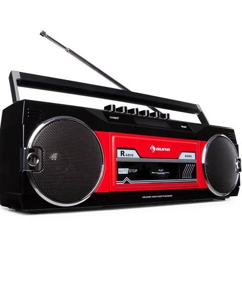 Auna Auna Duke DAB, kazetový magnetofon, rádio, DAB+/FM, BT, USB, SD, teleskopická anténa