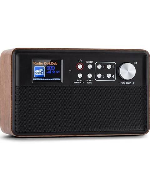 Auna Auna Nestor, DAB+ rádio, DAB + / FM, 2 provozní režimy, 2,4'' TFT barevný displej, hnědé