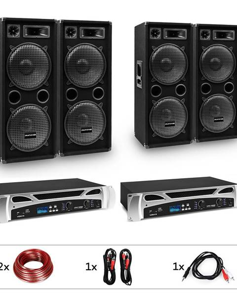 "Electronic-Star Electronic-Star estar Bangkok Rhythm Pro, DJ systém, sada, PA zesilovač, 2 x 500 W, 4 x subwoofer, 2 x 12"""