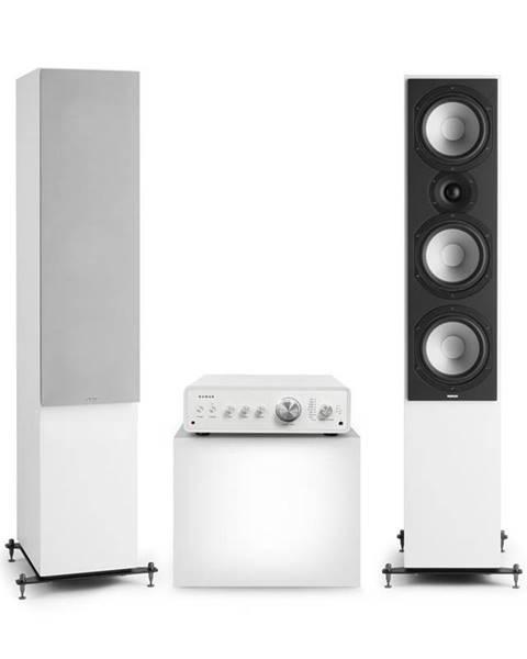 Numan Numan Drive 801, stereo sada, stereo zesilovač, věžový reproduktor, bílá/šedá