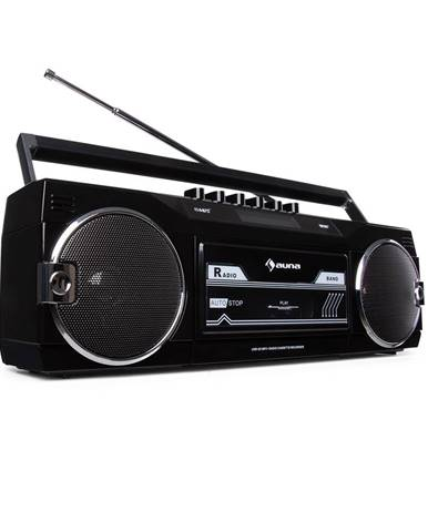 Auna Duke DAB, kazetový magnetofon, rádio, DAB+/FM, BT, USB, SD, teleskopická anténa