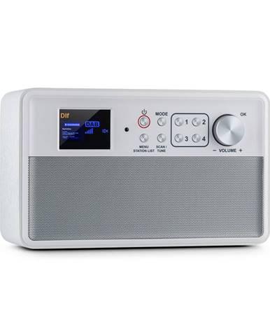Auna Nestor, DAB+ rádio, DAB + / FM, 2 provozní režimy, 2,4'' TFT barevný displej, bílé