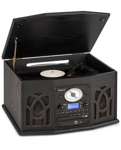 Auna NR-620, DAB, stereo systém, dřevo, gramofon, DAB +, přehrávač CD, černý