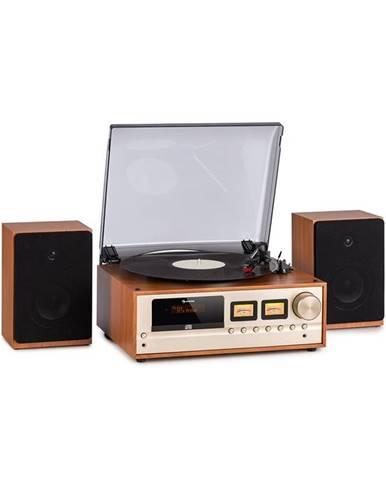 Auna Oxford, retro stereo systém,DAB + / FM, BT , Vinyl CD AUC -In, barva šampáň