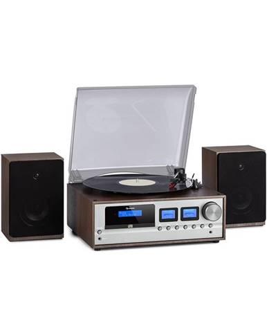 Auna Oxford, retro stereo systém,DAB + / FM, BT , Vinyl CD AUC -In, barva tmavě šedá