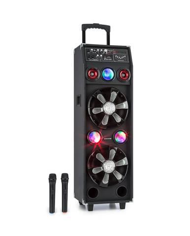 Auna Pro DisGo Box 2100, přenosný PA systém, 100 W RMS, BT, SD slot, LED diody, USB, akumulátor, černý