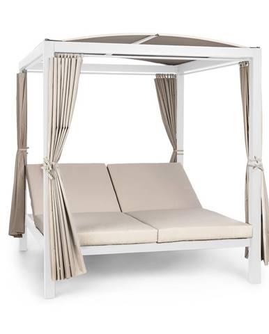 Blumfeldt Eremitage Double XL, sluneční lehátko, 2 osoby, ocelový rám, sluneční střecha, závěsy