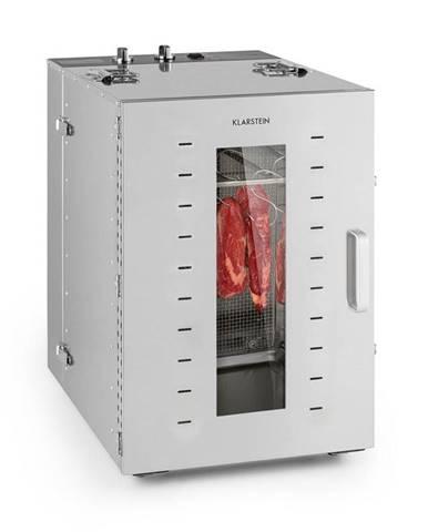 Klarstein Master Jerky 16, sušička potravin, háček na maso, sada, 1500 W, ušlechtilá ocel, stříbrná