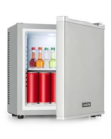 Klarstein Secret Cool, mini lednička, minibar, 13 l, třída A+, 0 dB, stříbrná