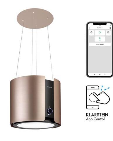 Klarstein Skyfall Smart, ostůvková digestoř, Ø 45 cm, recirkulace, 402 m³/h, LED, ušlechtilá ocel, zlatá