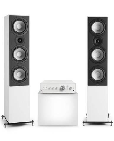 Numan Drive 801, stereo sada, stereo zesilovač, věžový reproduktor, bílá/bílá