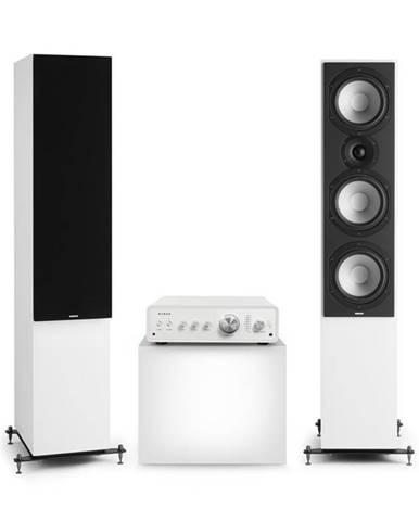 Numan Drive 801, stereo sada, stereo zesilovač, věžový reproduktor, bílá/černá