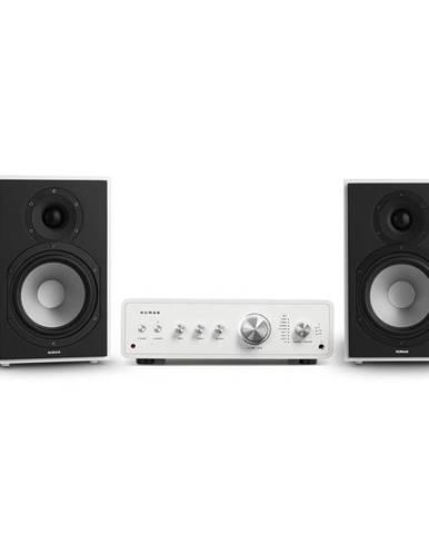 Numan Drive 802, stereo sada, stereo zesilovač, regálový reproduktor, bílá/bílá