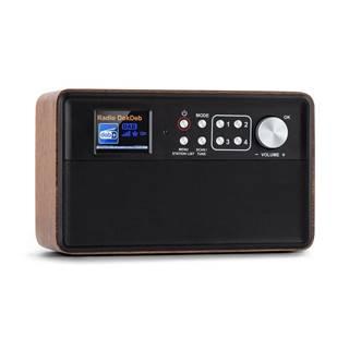 Auna Nestor, DAB+ rádio, DAB + / FM, 2 provozní režimy, 2,4'' TFT barevný displej, hnědé