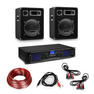 "Electronic-Star Hi-Fi zesilovač a sada reproduktorů, zesilovač 2x 350 W, 2x reproduktor, 12 "", 300 W RMS"