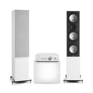 Numan Drive 801, stereo sada, stereo zesilovač, věžový reproduktor, bílá/šedá